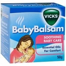 Dầu Giữ Ấm Baby Balsam Vick – Giữ Ấm Ngực Phòng Ho Cảm Lạnh Cho Bé