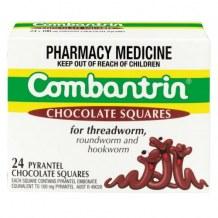 Thuốc tẩy giun Combantrin Chocolate Squares 24 của Úc