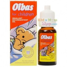 Tinh Dầu Xông Mũi Trị Ngạt Cho Bé Olbas For Children