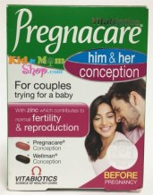 Viên Dễ Thụ Thai - Vitabiotics Pregnacare His & Her Conception