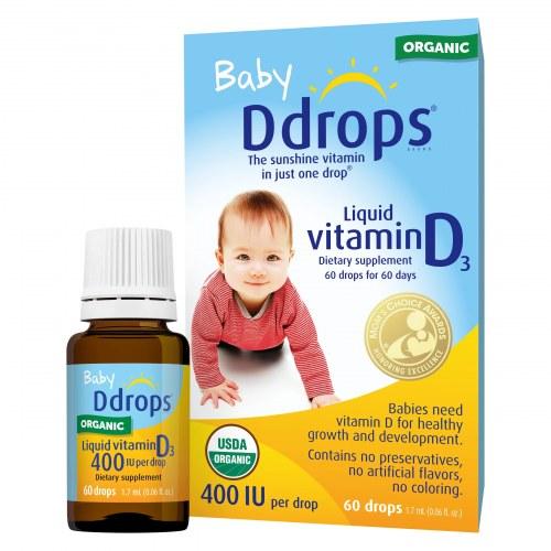 Baby Ddrops Vitamin D3 Cho Trẻ Sơ Sinh (400Ui) 90 Giọt Của Mỹ