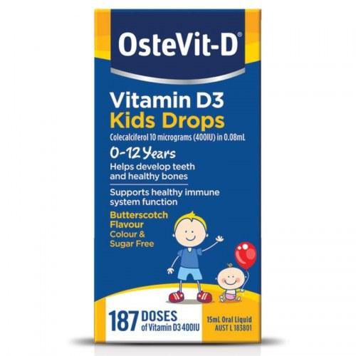 Vitamin D3 Dạng Giọt - Ostevit Của Úc Cho Bé Từ 0-12 Tuổi