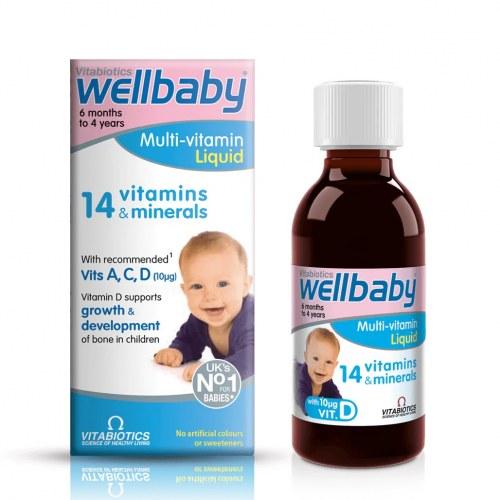 Vitamin Tổng Hợp Wellbaby Cho Bé Từ 6 Tháng Đến 4 Tuổi