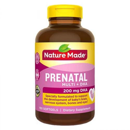 Thuốc Bổ Bà Bầu Của Mỹ Nature Made Prenatal Multi Dha 150 Viên