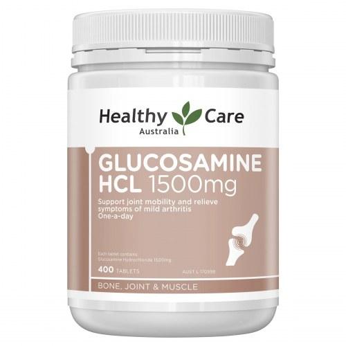 Viên uống bổ khớp Glucosamine HCL 1500mg Healthy care 400 viên