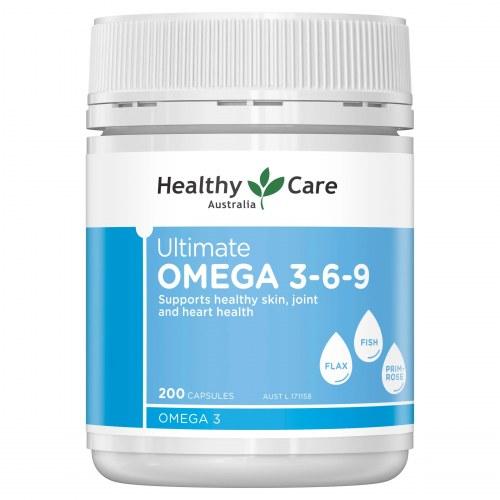 Viên uống Omega 3-6-9 của Healthy Care 200 viên